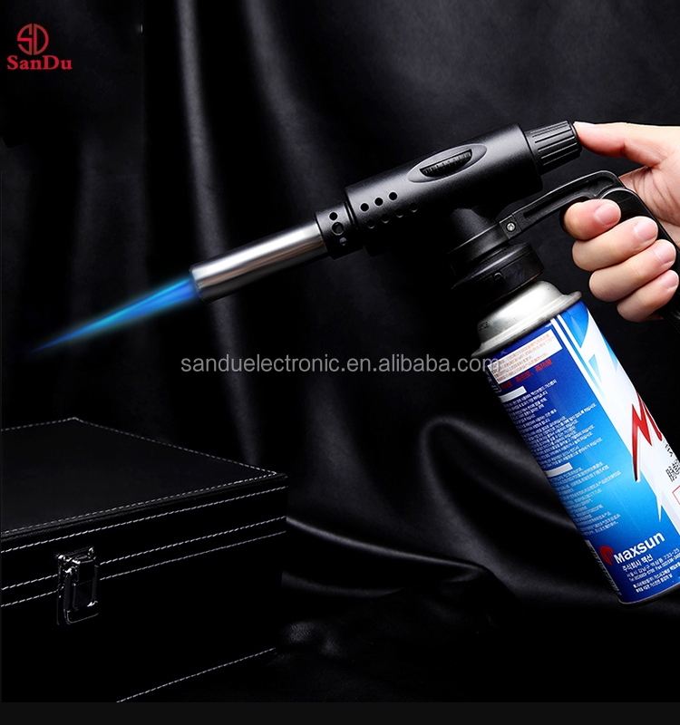 kitchen Common Butane Gas Torch Flamethrower Automatic Ignition Welding Outdoor Camping Barbecue Stove Equipment