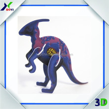 Educational plastic toy 3D mini puzzle,3d puzzle elephant