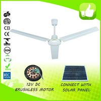 56 inch white saving energy indoor industrial solar panel ceiling fan with remote control
