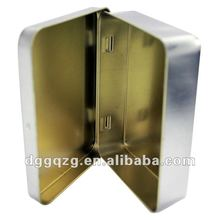rectangular hinged chocolate tin packaging box