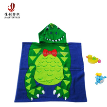 china manufacturer cheap promotion 100% cotton printed poncho baby hooded towels for kids
