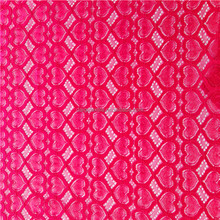 New style african fashion heart pattern lace fabric for dress