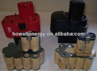 Custom power tools battery/18v power tool li-ion rechargeable battery pack