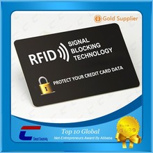 RFID anti-scanner card/ printable RFID hacking card shield/ blank RFID blocking card fit your wallet