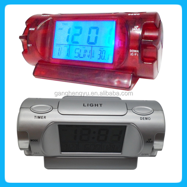 Funny voice talking alarm clock ,Calendar LCD talking clock