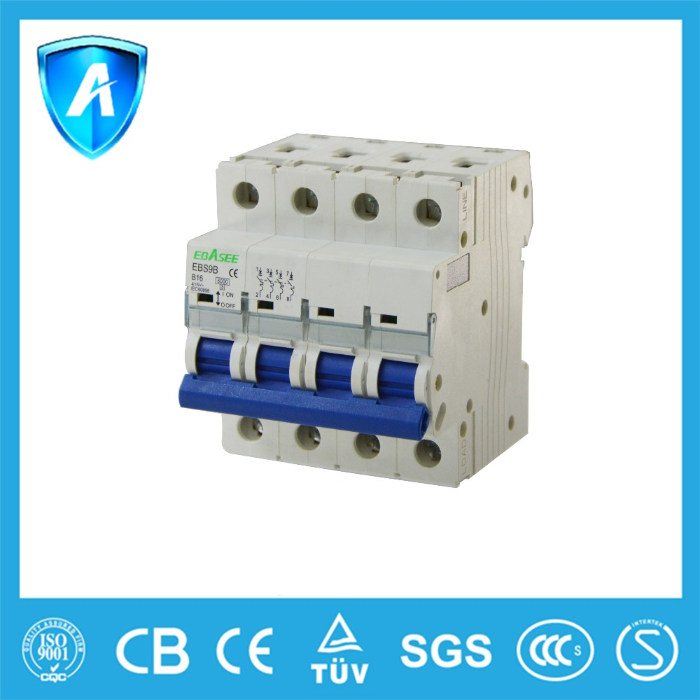 2016 best sale C65 size AC current curve C 3 pole electrical MCB 16 amp mini circuit breaker