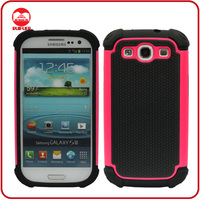Whole Sale Ballistic Style Hybrid Combo PC Silicone Phone Case for Samsung Galaxy S3 I9500