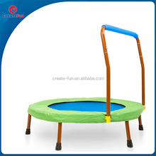 "CreateFun 36"" mini trampoline with hand rail"