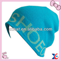 Fashion winter knitted 100% acrylic beanie hats