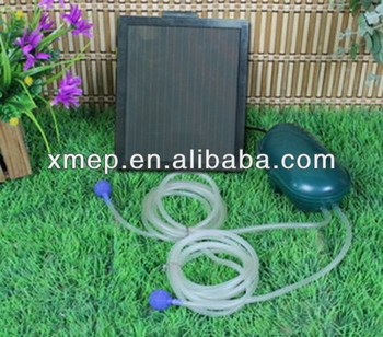 Solar Powered Aerator for Ponds with 2 Air Stone