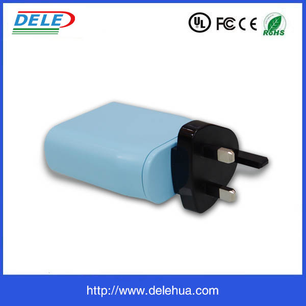 Favorable price 5V 3.4A type c PD travel charger Dual USB for Mobile phone