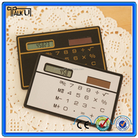 Promotional gift super thin pocket card calculator/solar power credit card calculator/slim scientific card calculator