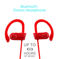 High end neckband bluetooth headset RU9 wireless bluetooth stereo headset 4.1 waterproof sport earphone