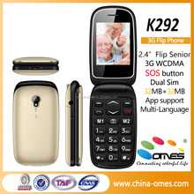 2.4 inch dual sim, quad band with SOS button senior flip mobile phone