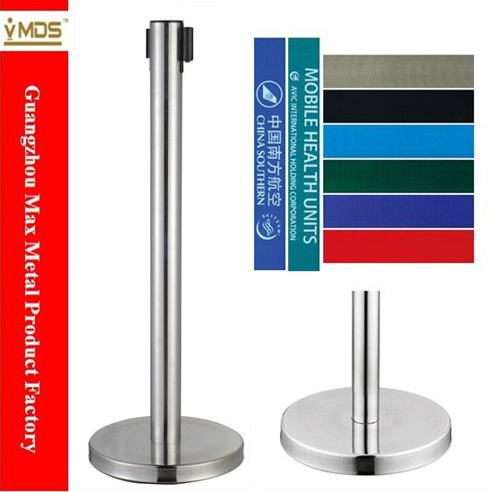 MAX Stainless Steel Chrome Retractable Belt Post Stanchion
