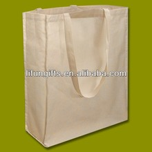 2016 Natural Cotton Shopper bag with Long Handles and A Gusset