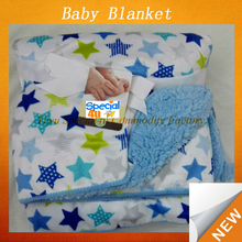 High quality cashmere infant baby print blanket fleece baby blanket handmade cheap baby blanket hj-385