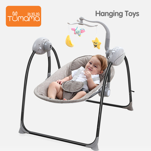 With Music And Hanging Toy Foldable Electric Chair Remote Control Bed Baby Bouncer Baby Swing