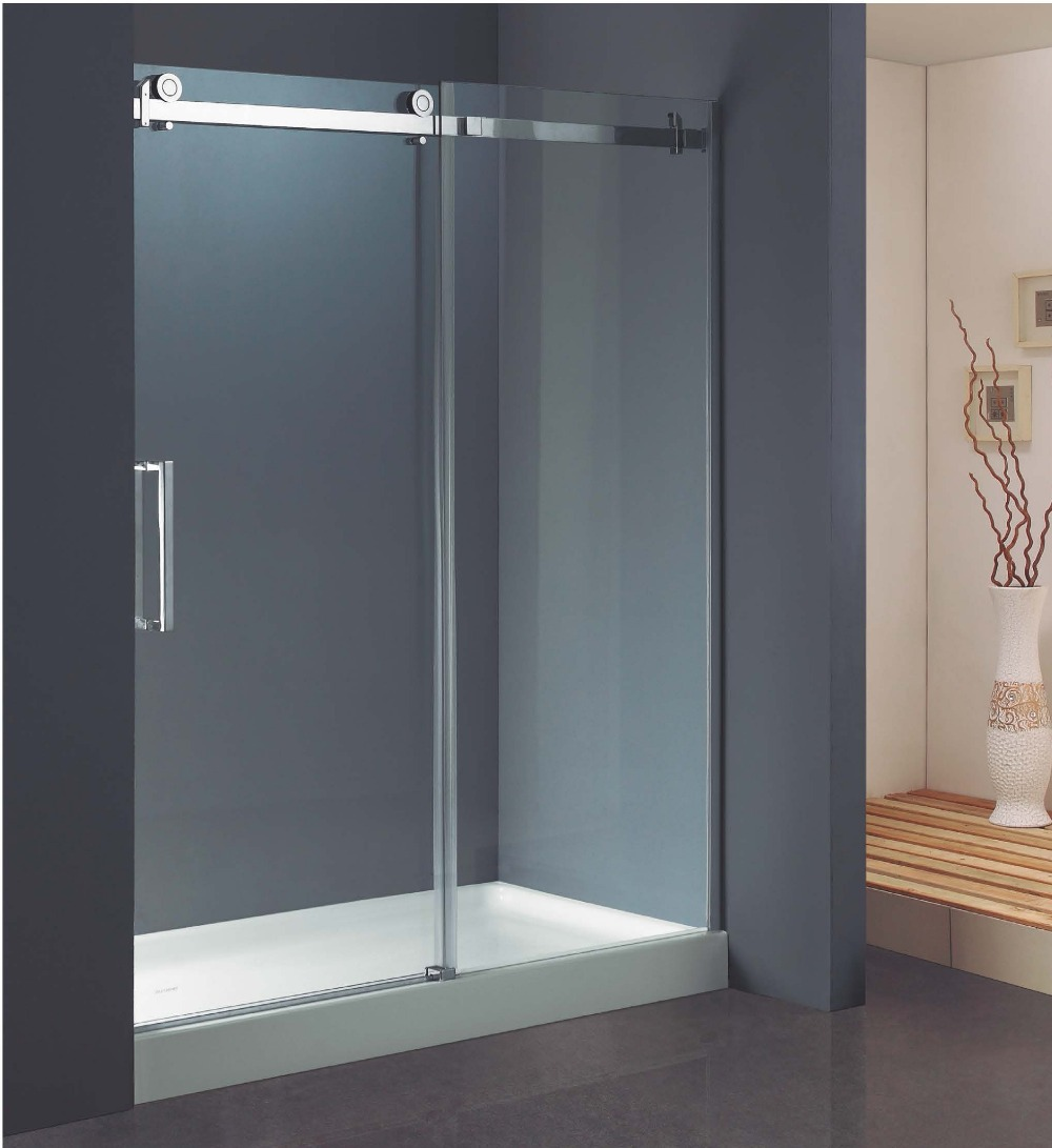 304 Stainless Steel Rollers Straight Sliding Shower Screens (KD8113)