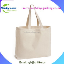 High quality blank canvas tote bag