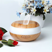 China Supplier electric wooden aroma essential oil diffuser made from oak wood and glass