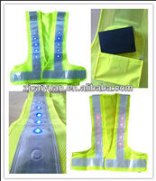 led safety vest with waterproof battery