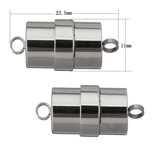New Factory sale Stainless Steel Column single-strand original color Hole Approx 2.5mm 10PCs/Lot magnetic clasps for leather
