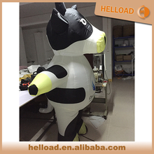 outdoor commercial inflatable cow costume walking for sale