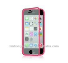 TPU flip Case for iphone 5S 5c with transparent Screen Protector