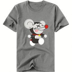oem logo printing t shirt lovely animals dog pattern t shirt men plain promotion t shirt with high quality