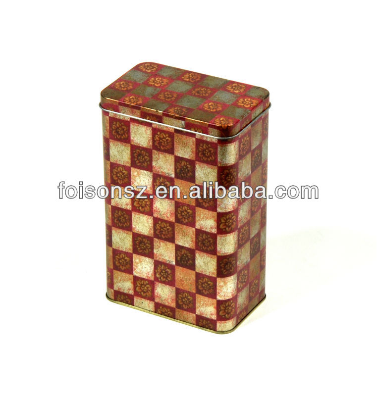 promotion square olive oil tin box, customize tin can