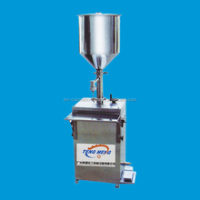 Cosmetic Automatical Pneumatic vertical paddle mixer Filling Packing Machine for sale