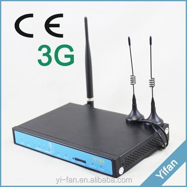 YF360-H 12volt dc 24v wireless modem router 3g wifi router with sim rj45 with wireless hard drive