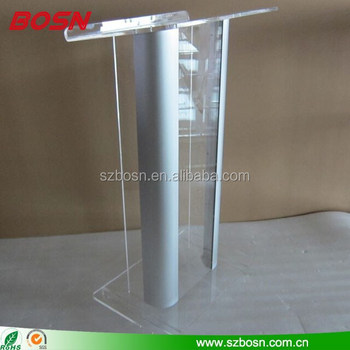 Detachable Acrylic Lectern with Aluminum stands