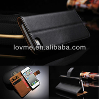 Luxury Genuine Leather Flip Case Wallet Cover For iPhone 5s