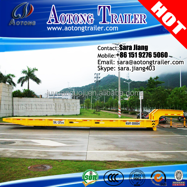 40ft Mafi style roll trailer/container trailer/RORO Semi Trailer with Gooseneck and Twist Locks for Containers Transportation