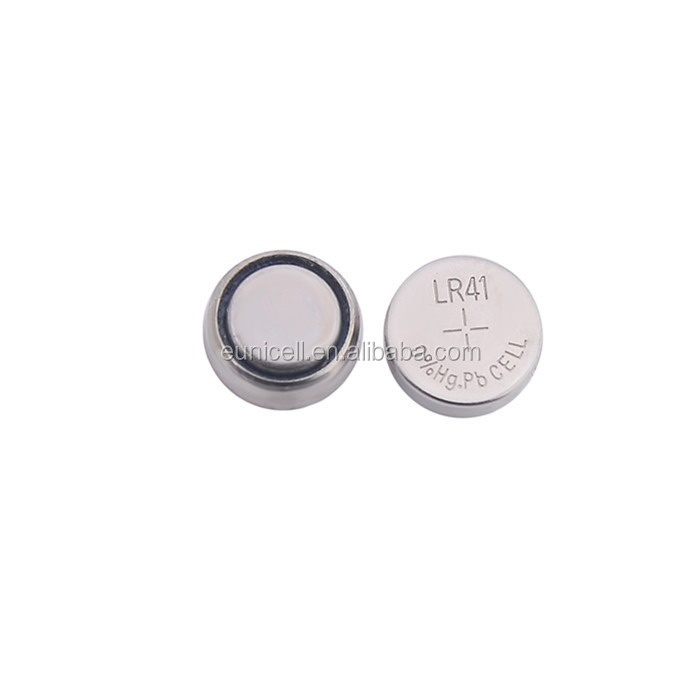 Mercury and cadmium 0% hg pb battery LR41 AG3 alkaline button cell manufacturer