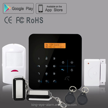 Smart touch keypad 30 wireless zones+4 hardwired zones homsecur intruder burglar alarm with RFID function