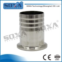 Sanitary stainless steel pipe fittings 304 long type triclamp hose ferrule on alibaba