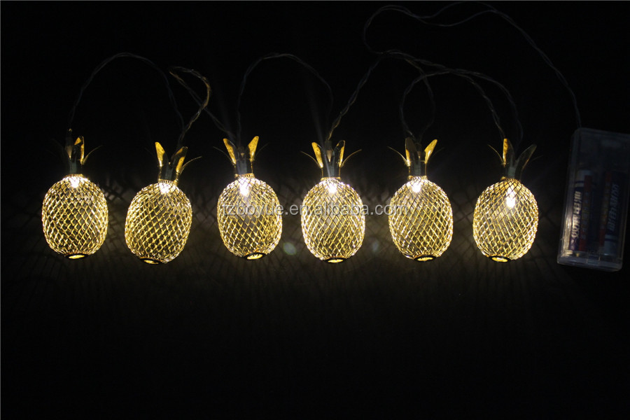 new product pineapple fairy led hanging srting lights indoor battery operated lights