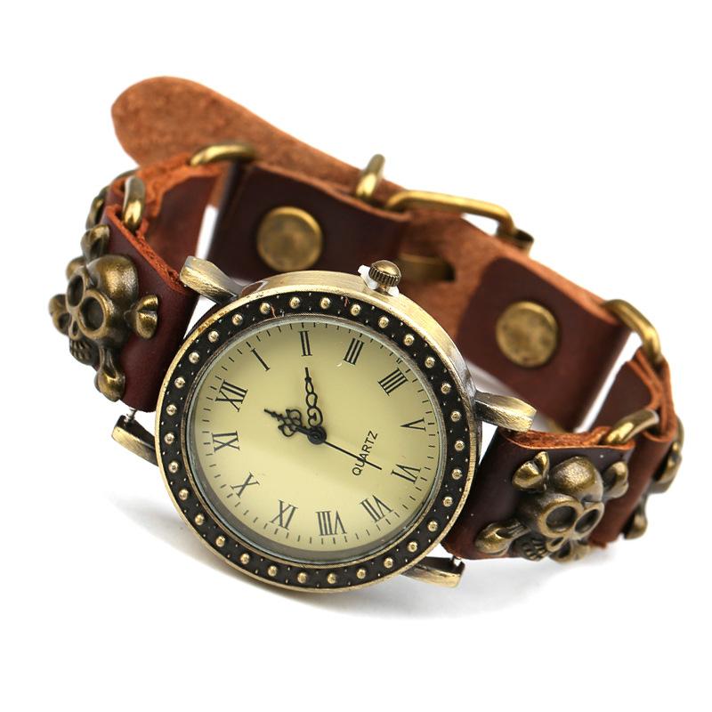 Мужской кожаный браслет для часов