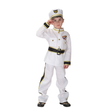 Halloween fancy hot sale high quality handmade children police costume for boys