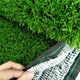 High traffic artificial turf 55mm stem fiber with green thatch synthetic grass
