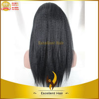With cheap price top quality kinky straight front lace chinese hair wig store