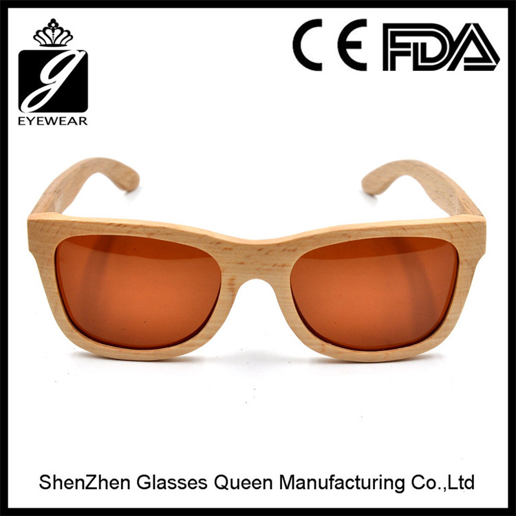 TOP Selling 2016 Polarized Bamboo Wood Sunglasses with Custom Logo Promotional Sunglasses Factory price