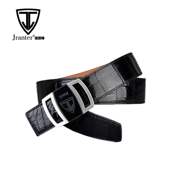 Alligator Leather Waist Belt Bulk, Designer Buckles Genuine Crocodile Leather Belt For Men
