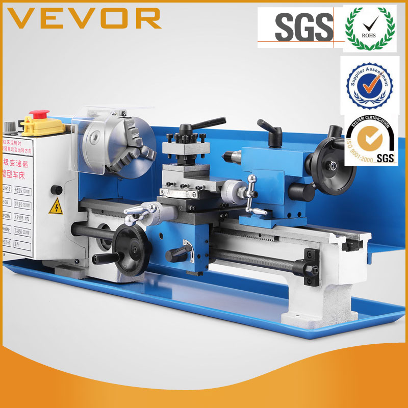 Metal Lathe Precision Mini Lathe Variable Speed 2500 RPM 550W Micro Milling Bench Top Lathe Machine