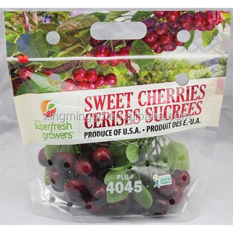 PET/CPP Slider Cherry/Grape/ Fruit Pouch Bag