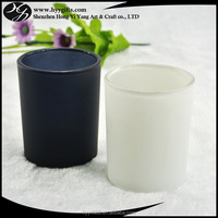 small matte white tea cup candle holder from glass supplier