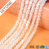 Istone Hot Selling 5x5mm Natural Crystal Hand Cut Faceted Beads For Jewelry Making